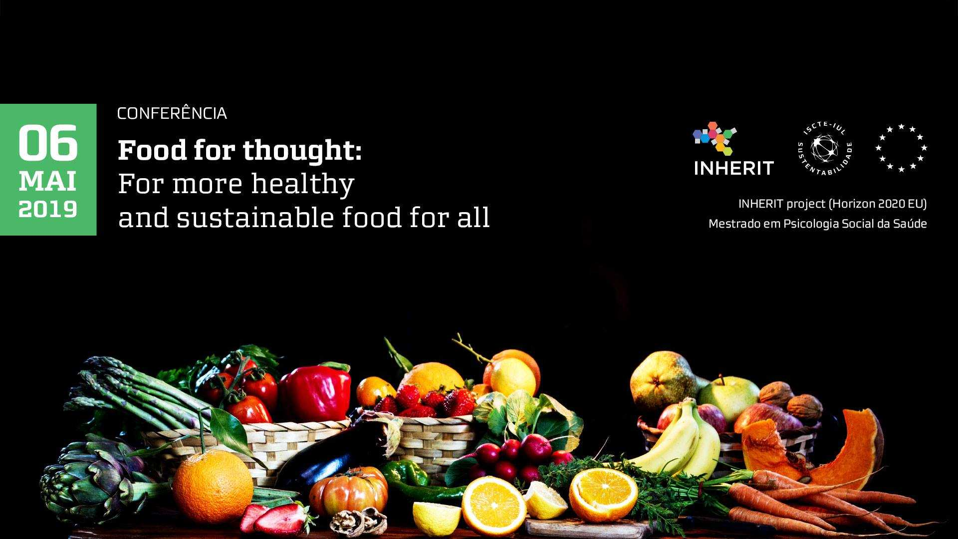 "Conferência Internacional ""Food for Thought"""